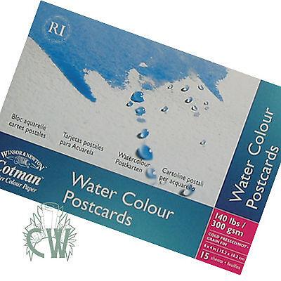 Winsor & Newton Cotman WaterColour Postcard Pad. Artists Watercolour Painting.