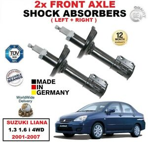 FRONT LEFT + RIGHT SHOCK ABSORBERS SET for SUZUKI LIANA 1.3 1.6 i 4WD 2001-2007