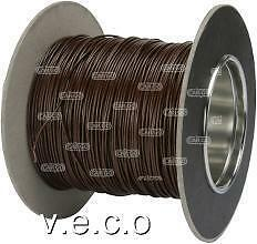 193047 BROWN PVC 11AMP THIN WALL CABLE WIRING 1X0.5mm 10 METRES TW0.5 CAR BOAT