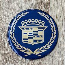Dark Blue Cadillac Wire Wheel Chips Emblems Decals Set Of 4 Size 225in