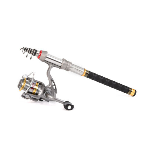 Lixada Telescopic Spinning Rods Fishing Rod and Reel Combo Organizer Pole N1A0