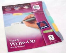 Avery Advantages Durable Write On Plastic Dividers 5 Tabs 16170