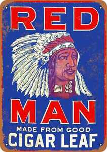 Metal Sign - Red Man Chewing Tobacco - Vintage Look Reproduction 2