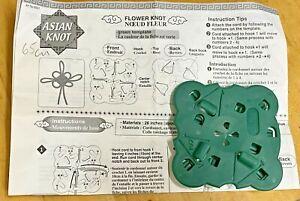 Asian-Knot-Flower-Knot-CLOVER-Template-Macrame-Jewellery-Decor-Crafts