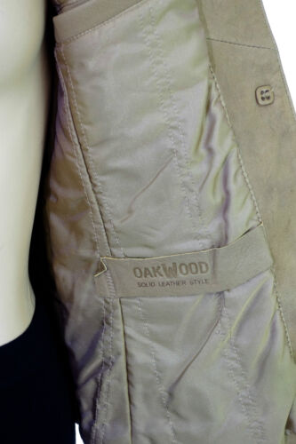 Agnello color Oakwood pelle slim in Giacca qO6vX0O