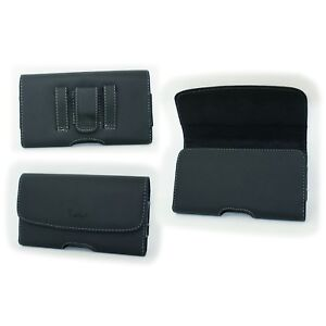 Black-Leatherette-Case-Pouch-Holster-with-Belt-Clip-Loop-for-BlackBerry-Motion