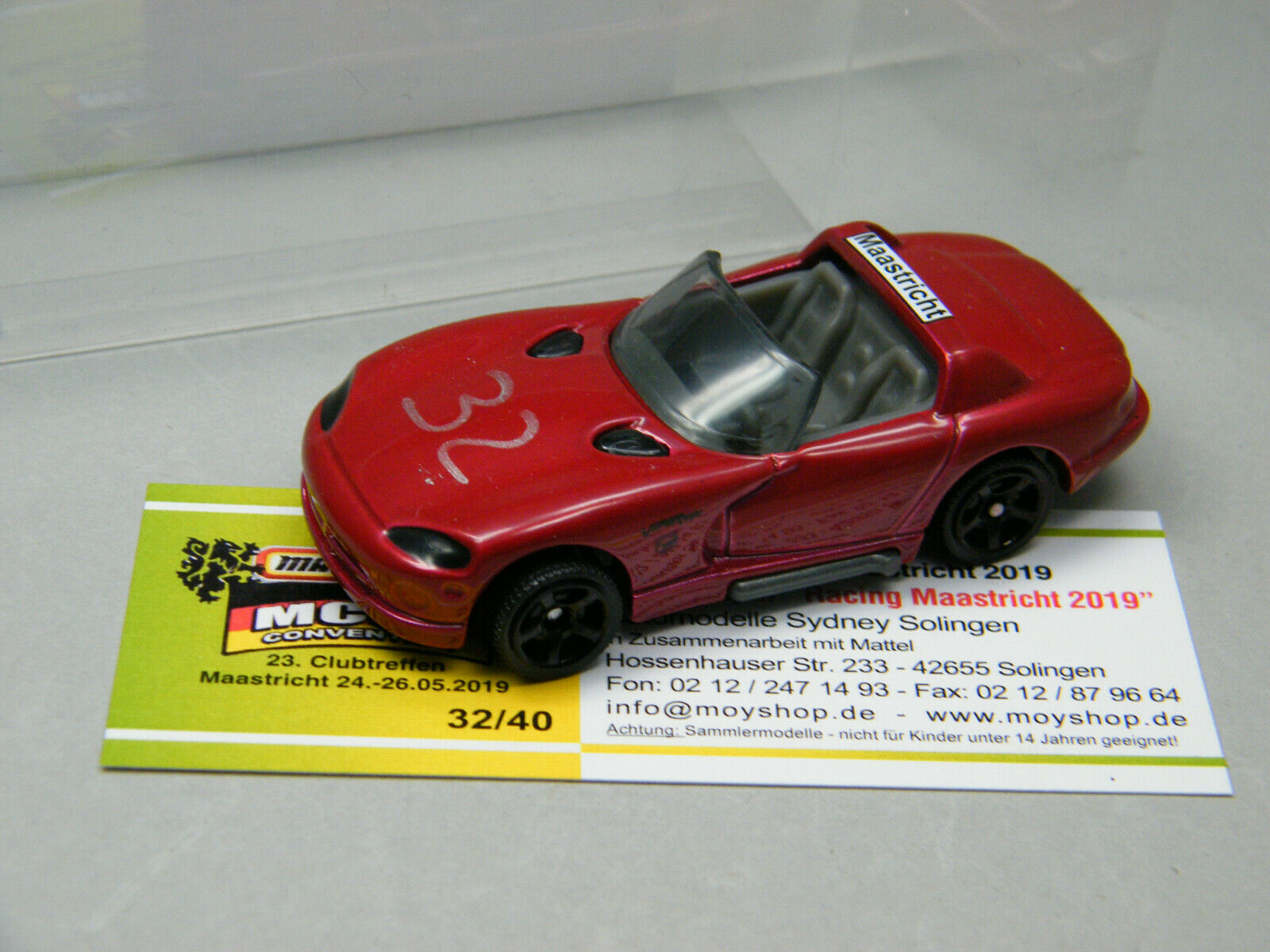Matchbox 23th Club Meeting Maastricht 2019 Dodge Viper 1v40 Racing Car