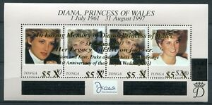 Tonga-2012-Lady-Diana-15-Todestag-Prinz-William-Kate-Royalty-Postfrisch-MNH