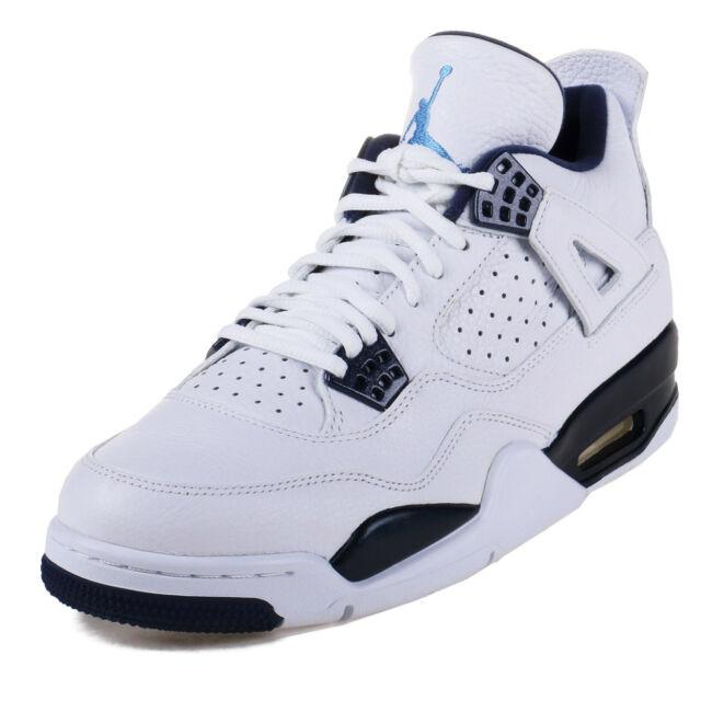 cb40d02a13f 2015 Nike Air Jordan 4 Retro LS Sz 11 White Legend Blue Midnight ...