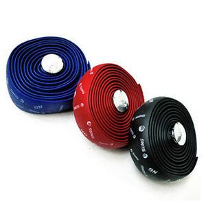 2x-Road-Race-Bike-Bicycle-Cycling-Handlebar-Tape-Ribbon-Rubber-Foam-Wrap-2-Plugs