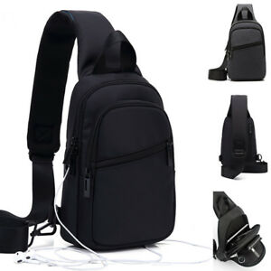 Water-Resistant-Sling-Backpack-Rucksack-Chest-Pack-Single-Strap-Daypack-Bag