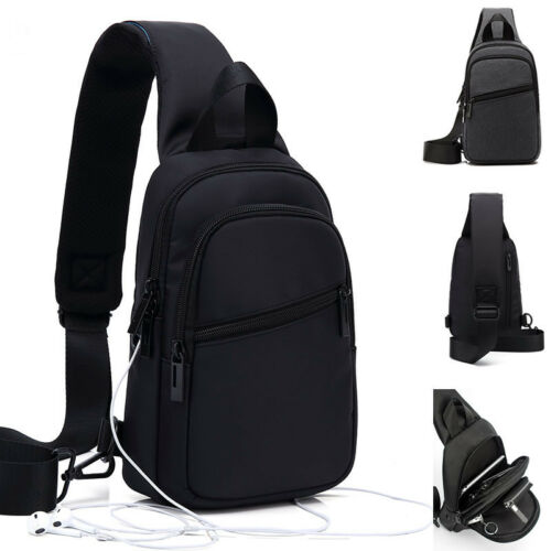 Water Resistant Sling Backpack Rucksack Chest Pack Single Strap Daypack Bag
