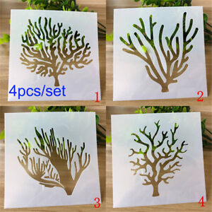 Details About Stamp Wall Painting Trees Embossing Template Layering Stencils Scrapbooking