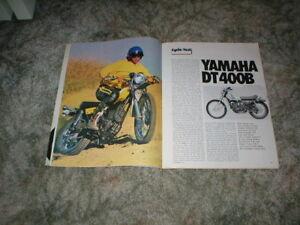 Details about 1975 Yamaha Enduro Cycle Road Test Article DT400B DT 400 Big  Bore Single vintage