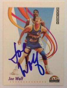 Joe Wolf 1991 SkyBox Hand Signed Card Denver Nuggets