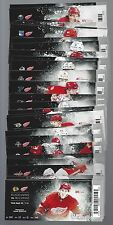 2015-2016 NHL DETROIT RED WINGS SEASON FULL UNUSED TICKETS LOT - ALL 43 GAMES