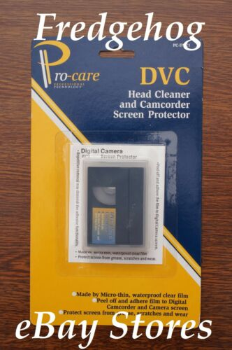 PRO-CARE MINI DV CAMCORDER HEAD CLEANER TAPE DRY GENTLE TYPE CASSETTE