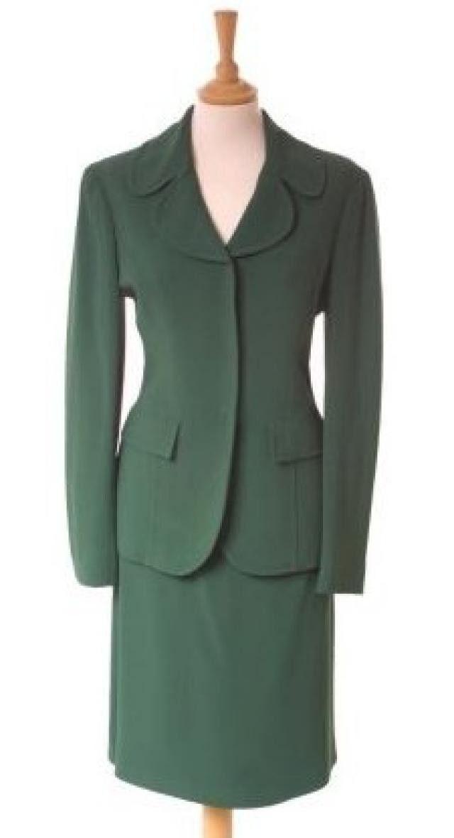 Alberta Ferretti-splendido vintage DimensioneUR verde smeraldo-NUOVO