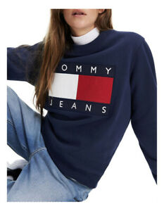 Tommy Jeans Tommy Flag Cropped Sweatshirt