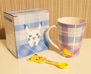 Pokemon Center Original Mug with spoon Pikachu cup From Japan