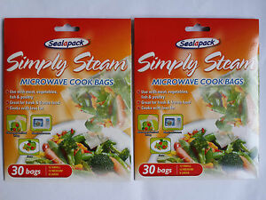 Image Is Loading 2 Packs 30x Microwave Cook Simply Steam Bags