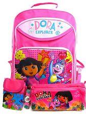 NEW BTS Dora the explorer backpack school Bag watch pencil box mini shoulder bag
