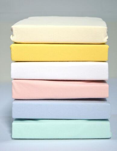 100/% Baumwolle Baby Spannbetttuch Spannbettlaken Viele Farben