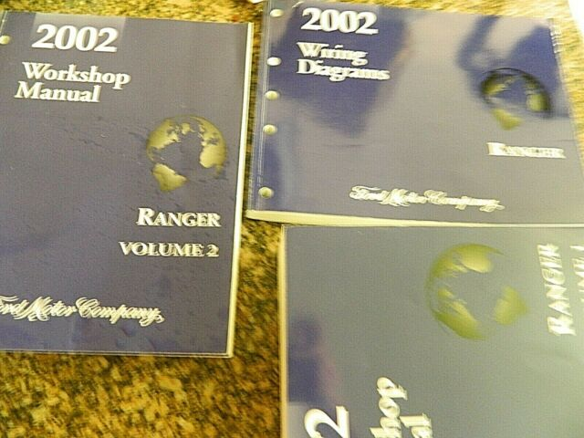 2002 Ford Ranger Workshop Manual  U0026 Wiring Diagrams Set Oem