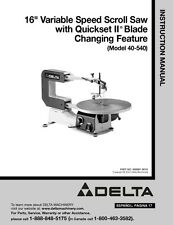 Delta scroll saw model 40 540 variable speed 16 capacity quick delta 40 540 16 variable speed scroll saw instruction manual greentooth Image collections