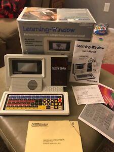 Vintage-1986-VTECH-Learning-Window-TALKING-Teaching-Machine-Box-amp-Instructions