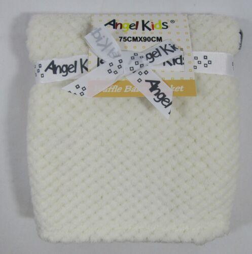 Bébé Bébés Vêtements Unisexe Blanc Rose Wrap Cream Waffle Couverture 75 x 90 cm
