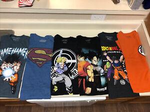 Lot-Of-Dragon-Ball-Shirts-And-Superman-Shirt
