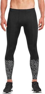 100% True 2xu Reflect Run Mens Compression Leggings Black 360 Visibility Running Tight Activewear Bottoms Sporting Goods