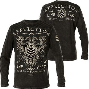 9eb1d29a26f Image is loading Affliction-Thermal-Value-Freedom-Black
