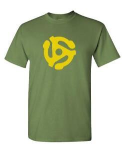 DJ-45-RPM-ADAPTER-spider-record-dj-music-Cotton-Unisex-T-Shirt
