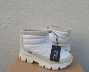 76db6ee8bcb Details about UGG CENTARA WP WHITE NYLON/ SUEDE SHEEPWOOL WINTER ANKLE  BOOTS, US 9/ EUR 40 NEW