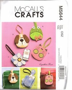 McCalls-Pattern-M5644-Make-Your-Own-Cell-Phone-Carry-Cases-Frog-Dog-Cat-Flower