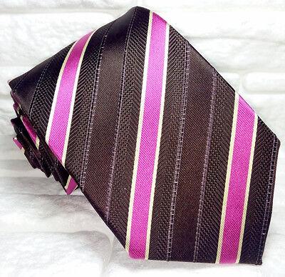 Cravatta Uomo Regimental 100% Seta Made In Italy Handmade Business Lavoro