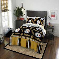 Comforter Set Queen Pittsburgh Steelers NFL 5pc Bedding Sheet Black Bed in a Bag