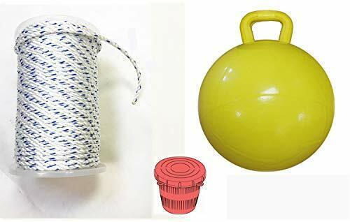 KUFA 15  Yellow Bullet Float, 5 16  x  400' Non-Lead Rope & Bait Jar, (PAM-5)  amazing colorways