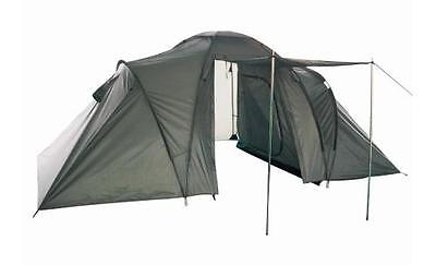 6 Person Waterproof Double Walled Skinned Porch New Six Man Olive Green Tent