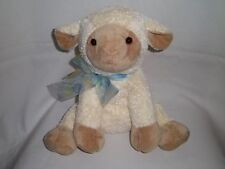 NEW JAAG Plush LAMB BLANKET White Cream Blankie RATTLES Baby Stuffed Animal Toy
