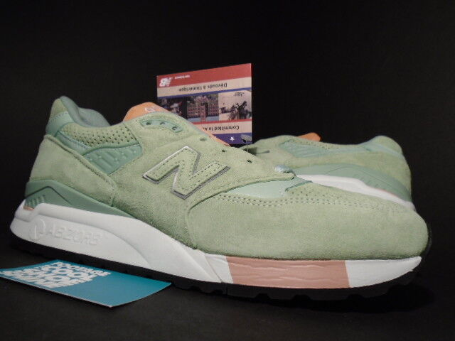 NEW BALANCE M998TNY 998 M998 CONCEPTS CNCPTS MINT GREEN THE TANNERY WHITE 10.5