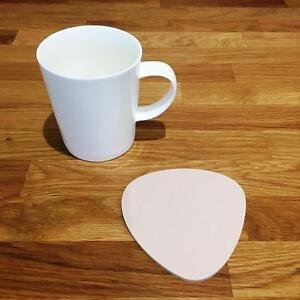 """Enthousiaste Pebble En Forme De Latte Beige Mat Acrylique Coasters, Ensembles De 4, 6 Ou 8, 10 Cm 4""""-afficher Le Titre D'origine"""