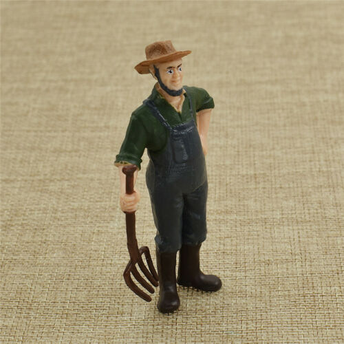 Simulation Farmer Model Figurine Figure Statue Micro Garden Miniature Ornament