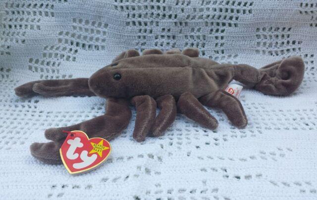 Stinger Brown Scorpion Ty Original Beanie Babies Retired September 1997 MWMT 3+