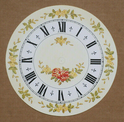 5.3//4 inch FLORAL CLOCK DIAL