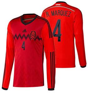 ADIDAS RAFAEL MARQUEZ MEXICO LONG SLEEVE AWAY JERSEY FIFA WORLD CUP ... 73e25cf2e