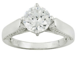 3-86-CT-RHODIUM-PLATED-STERLING-SILVER-RING-BELLA-LUCE-R-SIZE-5-or-6