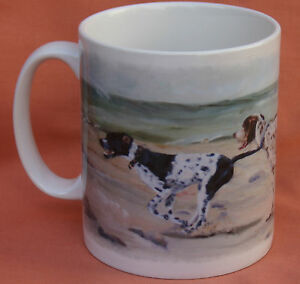 POINTER-ENGLISH-DOG-MUG-DESIGN-OIL-PAINTING-PRINT-BEACH-SANDRA-COEN-ARTIST